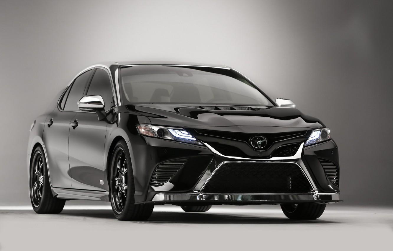 Фото обои авто, фон, чёрный, Toyota