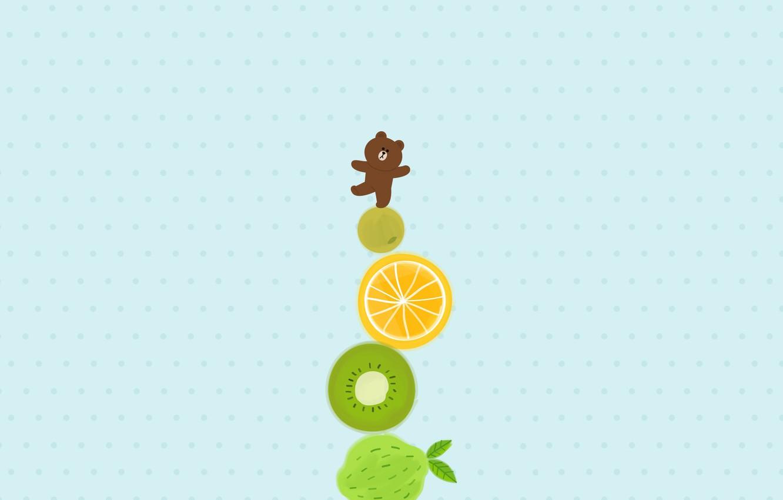 Фото обои аниме, арт, мишка, фрукты, башенка, комодо