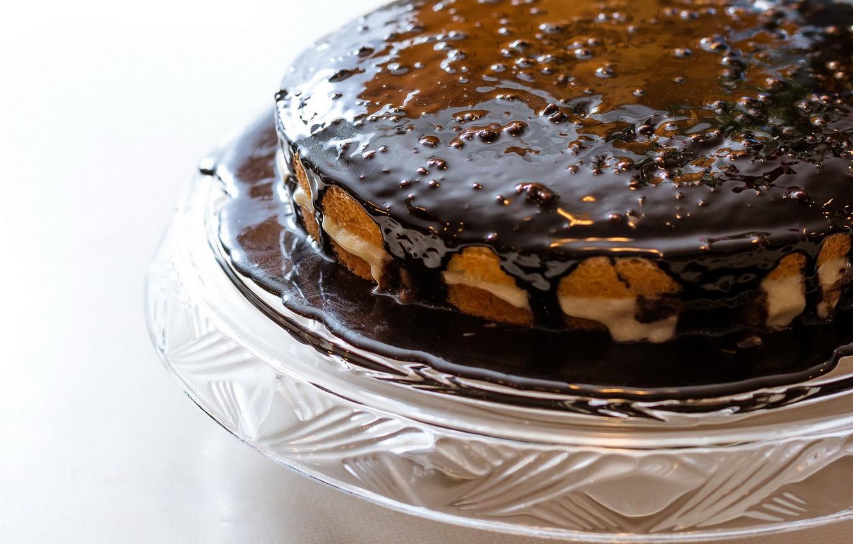 Фото обои макро, еда, торт