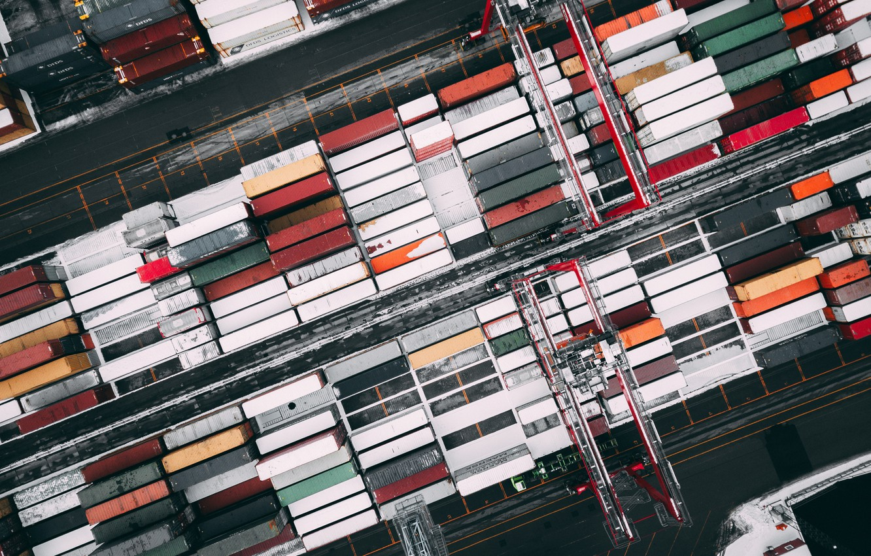 Фото обои Макро, кран, парковка, parking, груз, Macro, cargo, Контейнер, crane, Container