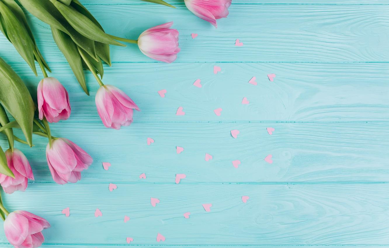 Фото обои цветы, тюльпаны, розовые, fresh, wood, pink, flowers, beautiful, tulips, spring, tender