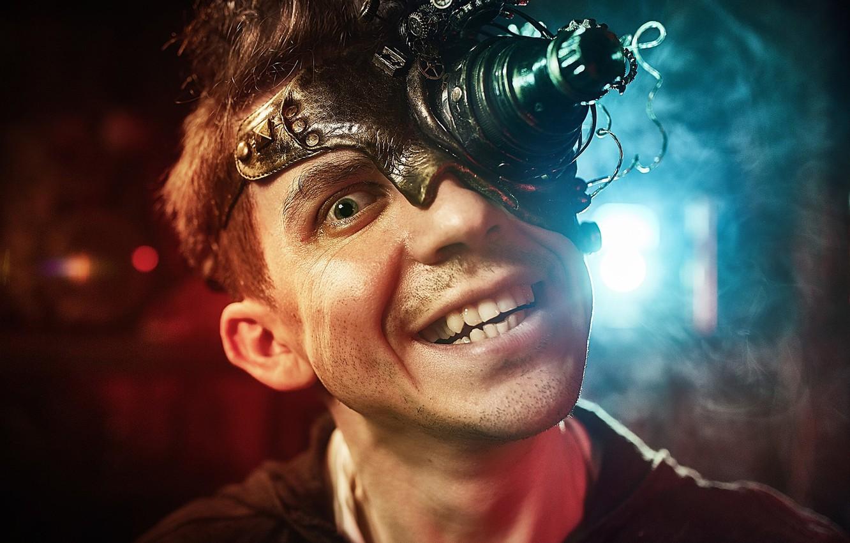Фото обои лицо, оскал, парень, Сумасшедший фотограф, Kirill Golovan