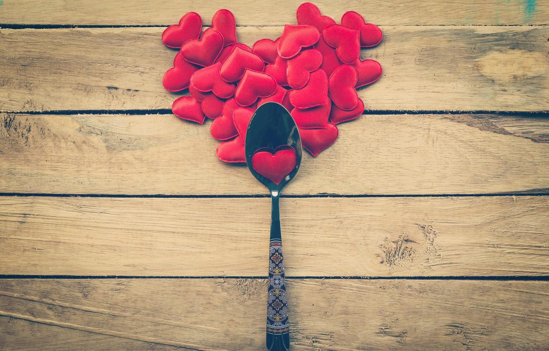Фото обои любовь, сердце, ложка, сердечки, love, heart, wood, romantic, Valentine's Day