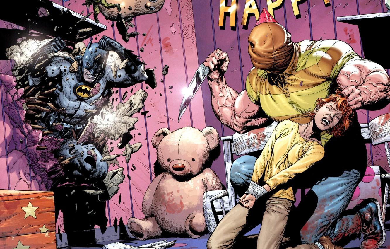 Фото обои Нож, Игрушка, Girl, Спасение, Бэтмен, Костюм, Девочка, Герой, Маска, Комикс, Супергерой, Hero, Убийца, Batman, Злодей, …