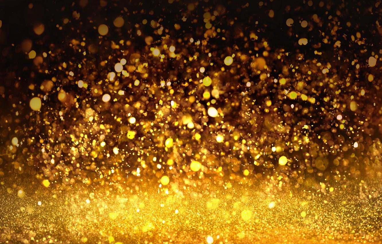 Фото обои фон, блестки, golden, gold, texture, боке, bokeh, shine, glitter