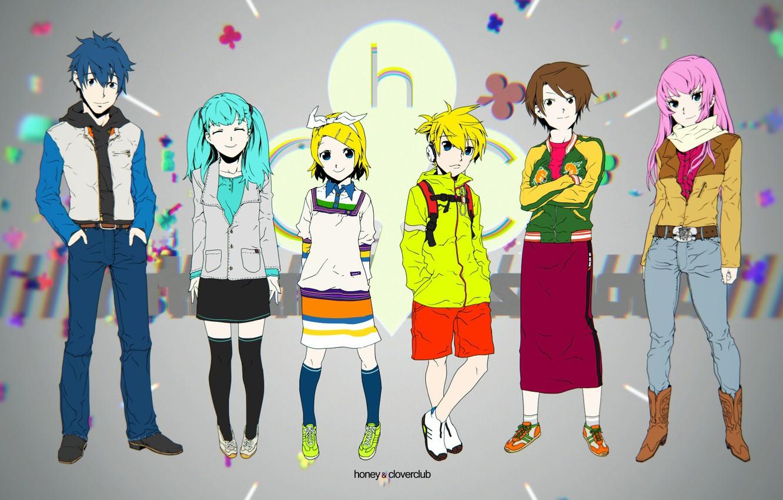 Фото обои дети, фон, аниме, арт, Vocaloid, Вокалоид, Кагомине Лен, Кагомине Рин