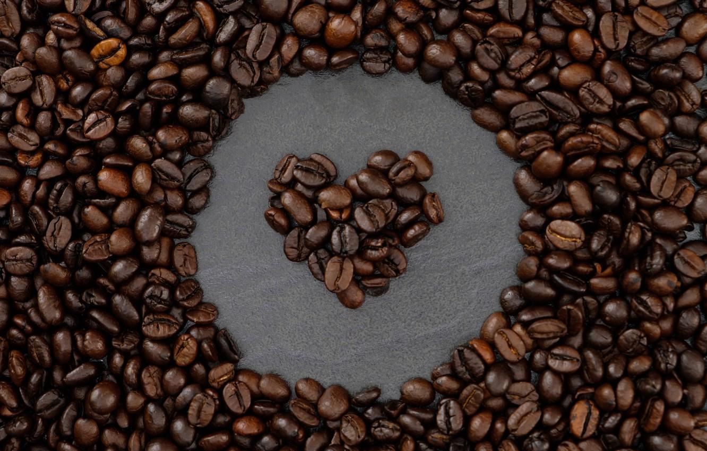 Фото обои фон, сердце, кофе, зерна, love, heart, texture, background, beans, coffee, roasted