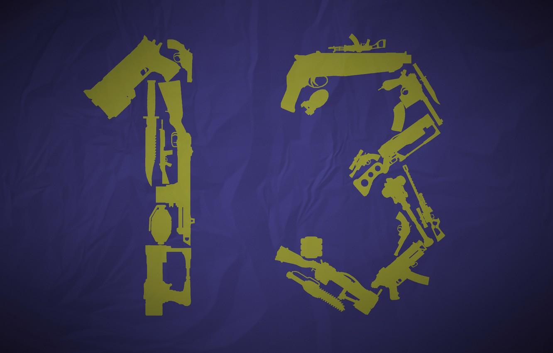 Фото обои оружие, силуэт, число