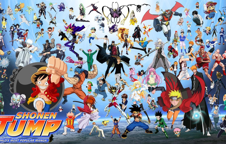 Фото обои game, Bleach, Naruto, One Piece, anime, crossover, asian, manga, Fullmetal Alchemist, Gintama, Naruto Shippuden, oriental, …