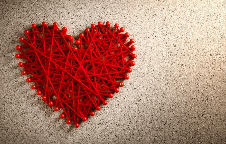 Фото обои любовь, сердце, red, love, нитки, heart, romantic