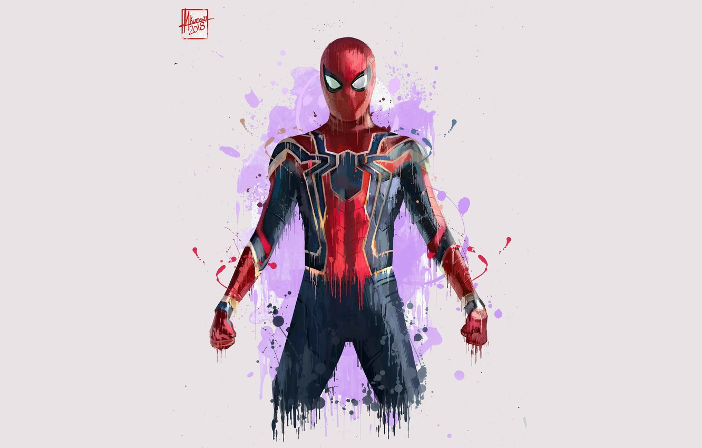 Фото обои Рисунок, Костюм, Актер, Герой, Кино, Маска, Супергерой, Hero, Фильм, Фантастика, Marvel, Человек-паук, Comics, Spider-Man, Peter …