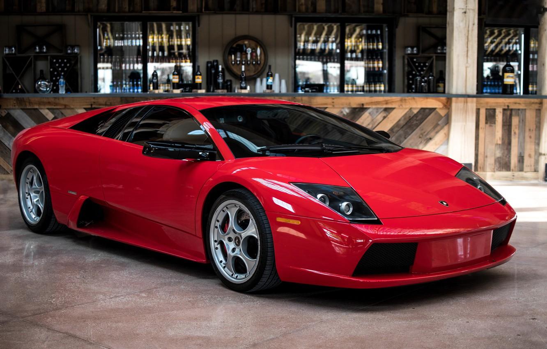 Фото обои Lamborghini, Red, Murcielago, Bar