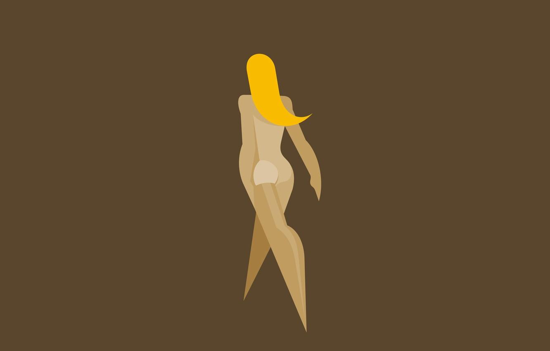 Фото обои эротика, попка, девушка, блондинка