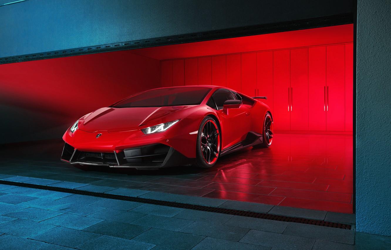 Фото обои Lamborghini, Red, Supercar, Novitec Torado, Huracan