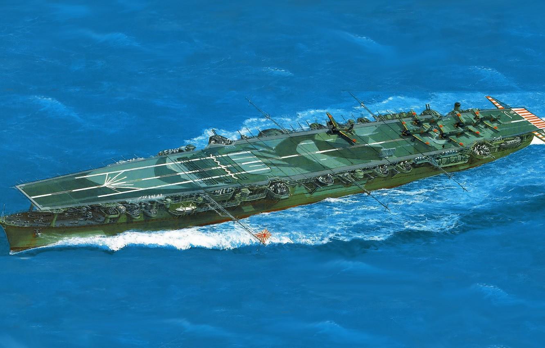 Фото обои aircraft carrier, IJN, zuiho
