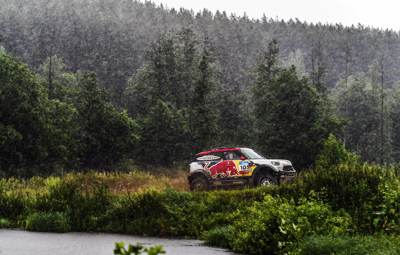 Фото обои Mini, Cooper, Лес, Спорт, Дождь, Гонка, Mini Cooper, Россия, Rally, Ралли, Sport, Ливень, Мини, 105, …