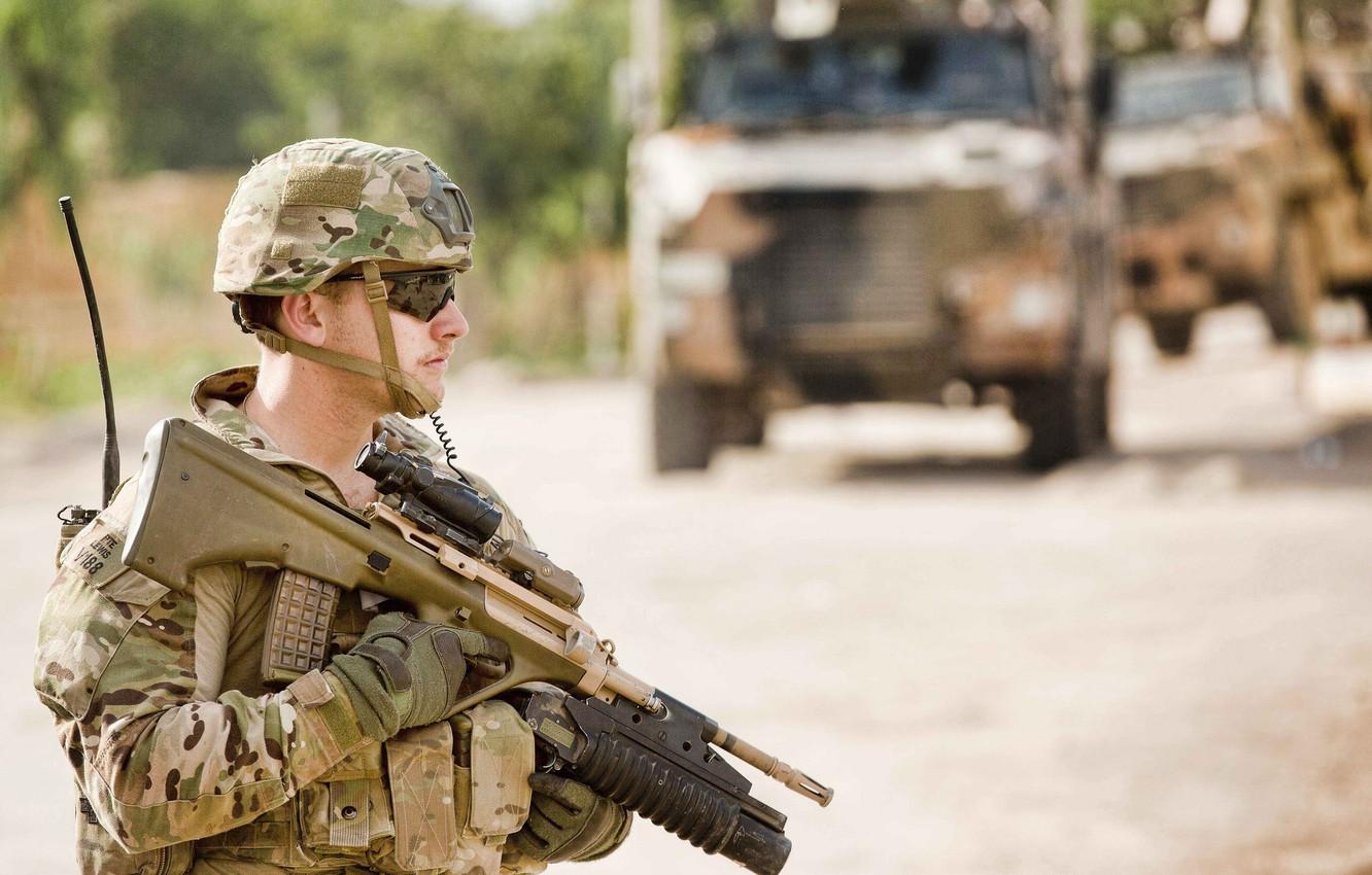 Фото обои soldier, military, weapon