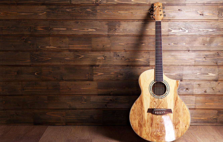 Фото обои гитара, струны, music, размытость, guitar, инструмент, акустика, гриф, лады, музыкальный, боке, musical, шестиструнная, wallpaper., instrument, …