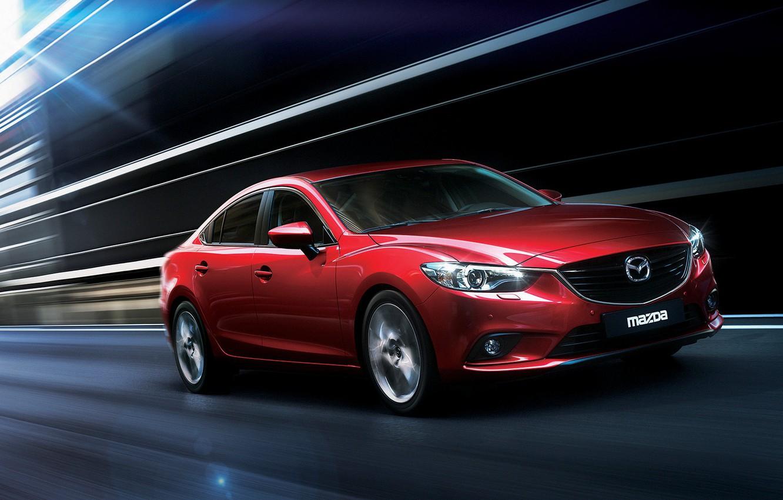 Фото обои Авто, Скорость, Mazda, Мазда 6, Бордовая