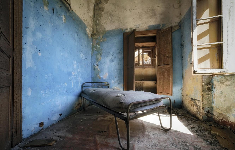 Фото обои комната, кровать, окно