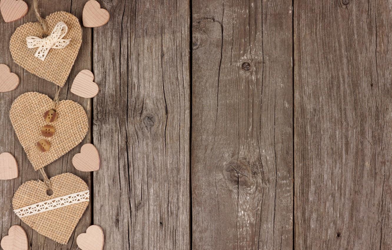 Фото обои сердечки, love, wood, romantic, hearts