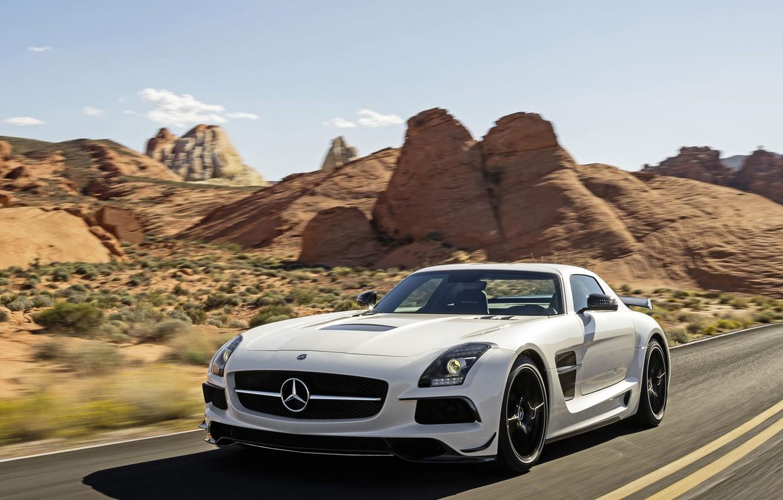 Фото обои Mercedes-Benz, AMG, SLS