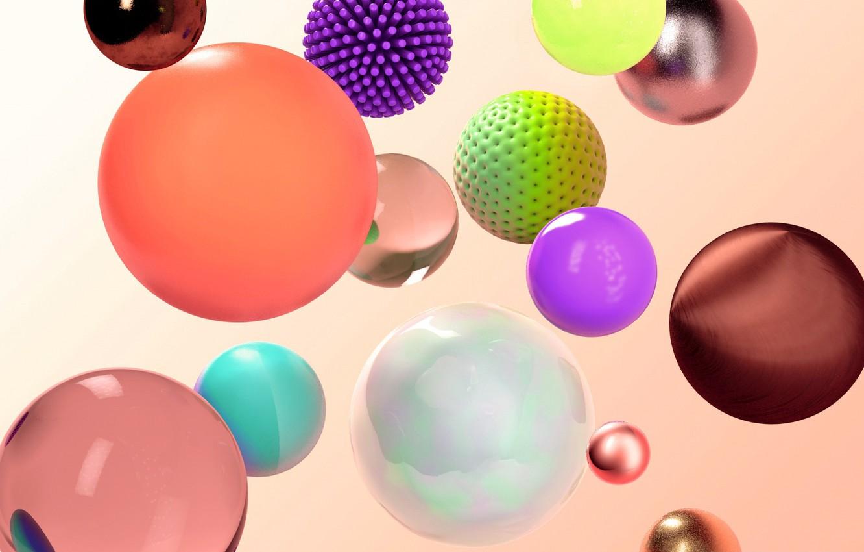 Обои шар, краски. Абстракции foto 7