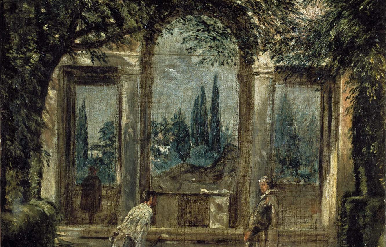 Обои интерьер, картина, Диего Веласкес, Вилла Медичи в Риме. Павильон Ариадны. Разное foto 6