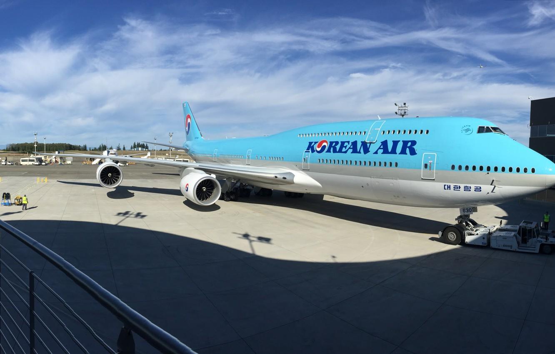 Фото обои Boeing, Корея, Боинг, 747, Korea, 747-8, B747, Б747, B747-8, Korean air