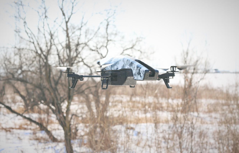Фото обои зима, лес, технологии, forest, winter, дрон, technology, квадрокоптер, drone quadrocopter, radio control, радиоуправление
