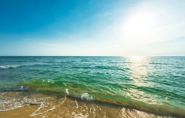 Фото обои песок, море, волны, пляж, лето, summer, beach, sea, seascape, sand, wave
