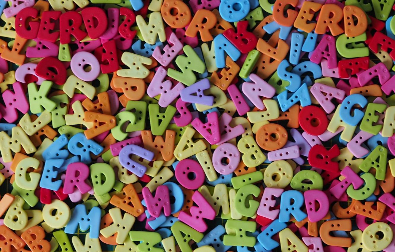 Фото обои буквы, текстура, разноцветные