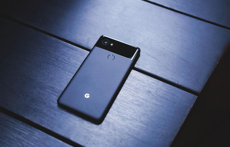 Фото обои Google, Black, Pixel, Smartphone, 2 XL