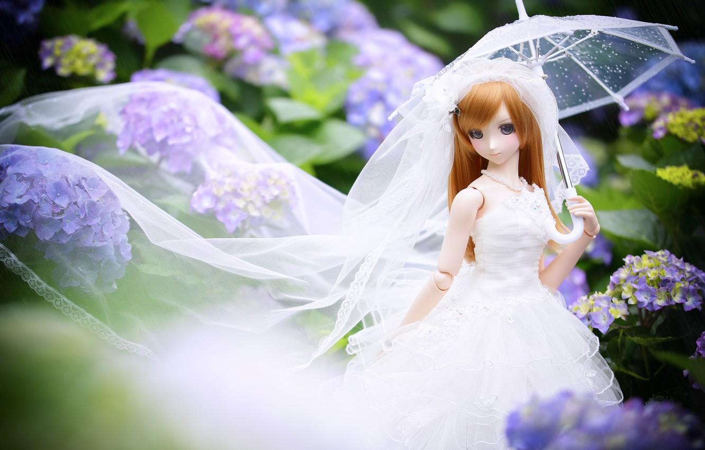 Обои японка, зонтик, Кукла. Разное foto 16