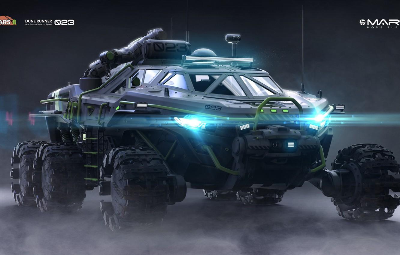 Фото обои машина, свет, транспорт, техника, Dune Runner