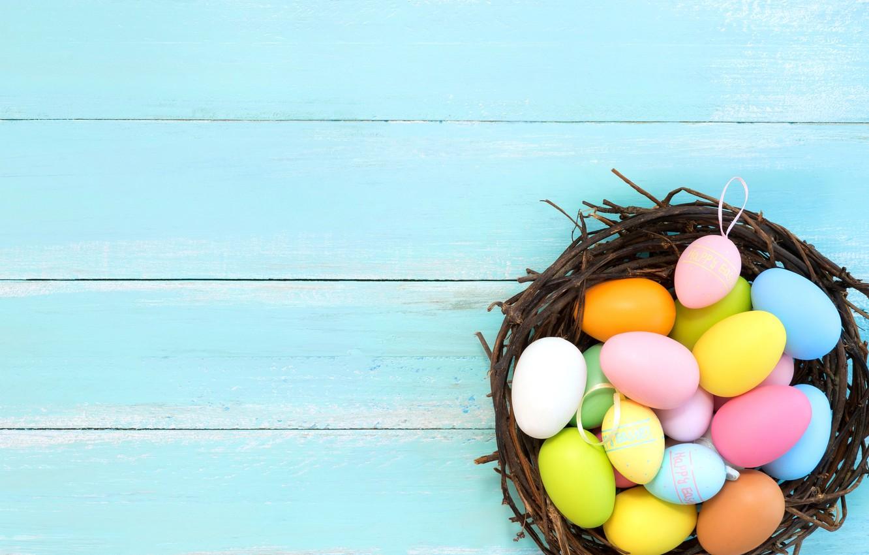 Фото обои корзина, яйца, весна, colorful, Пасха, spring, Easter, eggs, decoration, Happy, tender