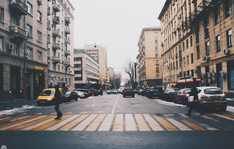 Фото обои дорога, машины, город, люди, улица, москва, переход, road, cars, street, people, moscow, sity, transition