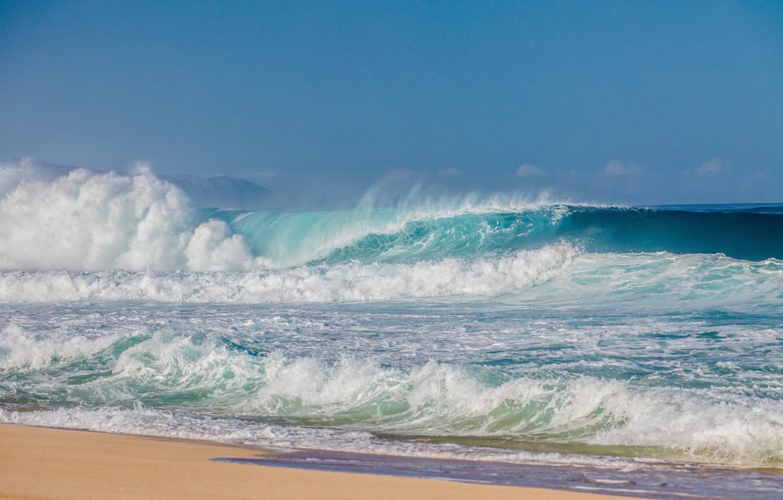 Фото обои море, волны, пляж, берег, beach, sea, ocean, seascape, sand, wave
