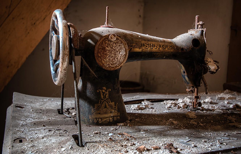 Фото обои фон, singer, швейная машинка