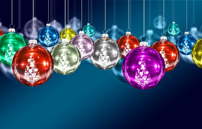 Фото обои шарики, украшения, игрушки, Новый Год, Рождество