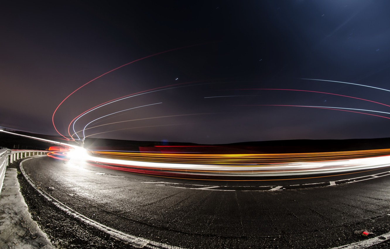 Обои дорога, ночь, огни. Разное foto 7