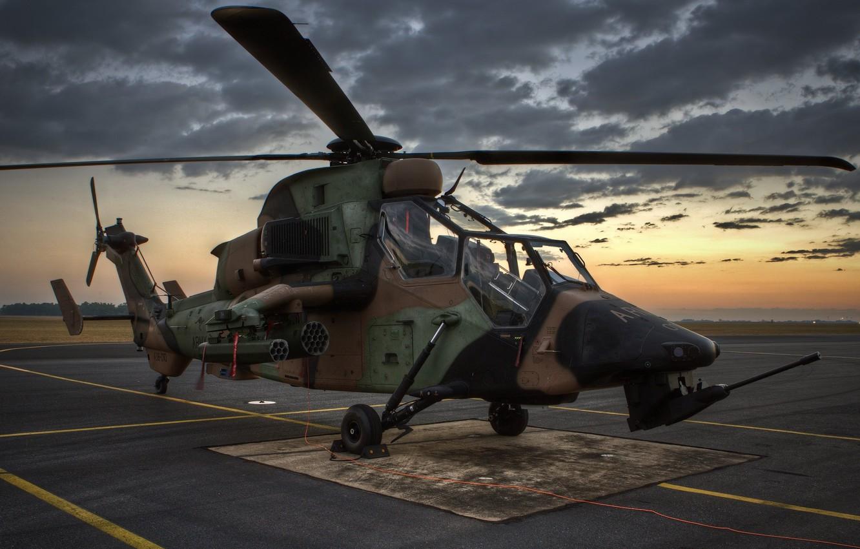 Обои ec 665, ударный, Tiger, Eurocopter. Авиация foto 17