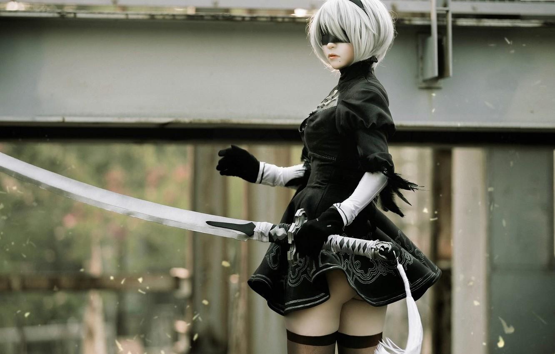 Фото обои cosplay, Nier Automata, Yorha No.2