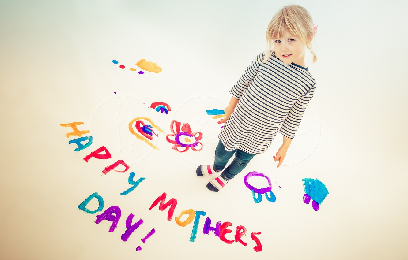 Фото обои Colours, Painting, Mothers Day