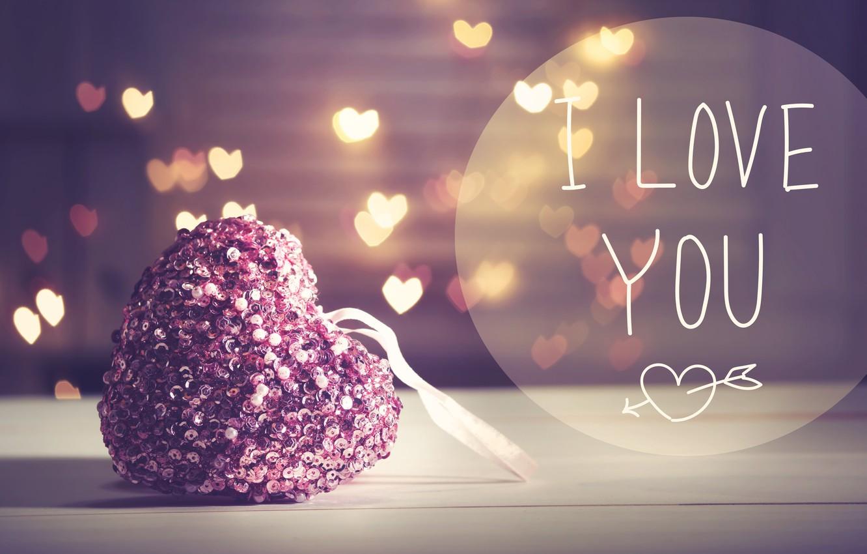 Фото обои любовь, романтика, сердце, love, I love you, heart, pink, romantic, bokeh