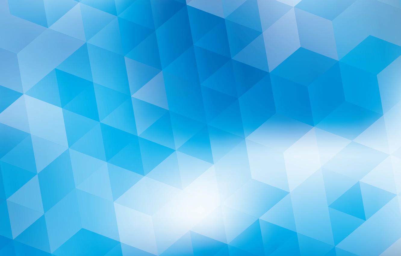 Обои треугольники, углы, геометрические фигуры, KDE, голубой, абстракция. Абстракции foto 7