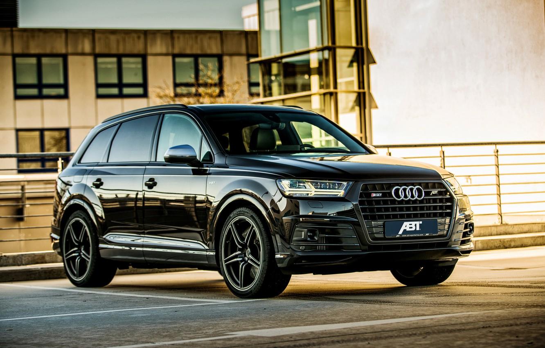 Фото обои Audi, ауди, черный, Black, кроссовер, ABT, SQ7