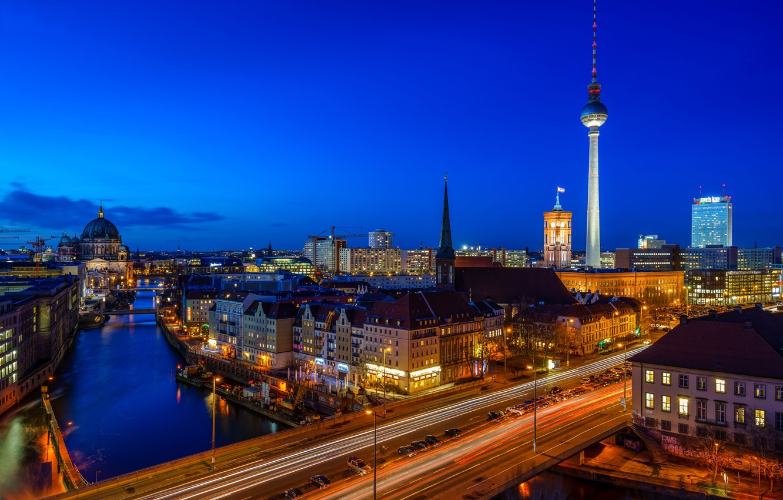 Обои deutschland, berlin, германия, oberbaumbrücke, spree. Города foto 10