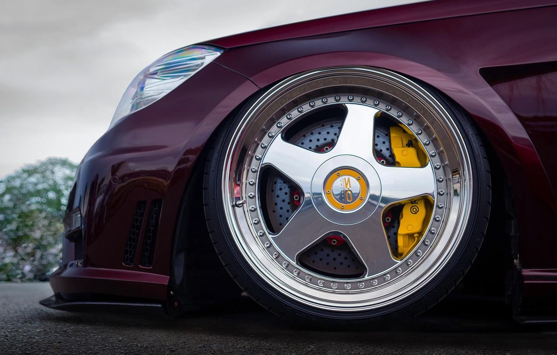 Фото обои колесо, нос, Mercedes - Benz, W212, yellow 6-pot Brembo calipers, 20-inch OZ Racing Futura wheels