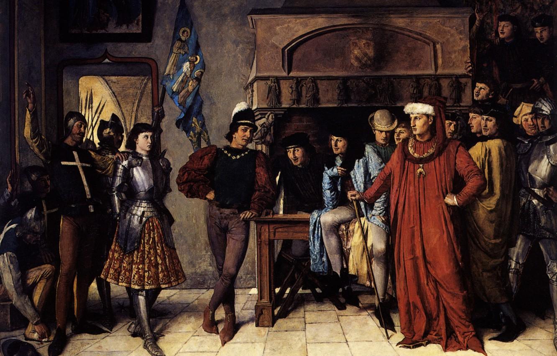 Фото обои Патрик, 1864, Жанна д'Арк, после военной кампании перед, Исидор